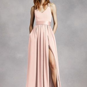 Vera Wang blush bridesmaid dress VW360214